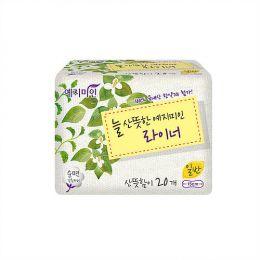 Yejimin Panty Liner Herb 40P (Normal) (бело-зеленая упаковка) Прокладки гигиенические на каждый день Линия плюс 40шт (нормал)