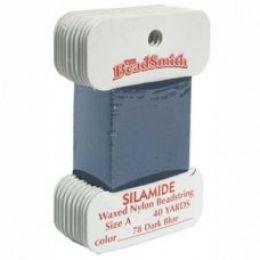 Нитки Silamide цвет темно-синий / размер A / 36,5м / 1шт