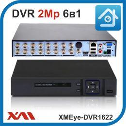 XMEye-DVR1622. Видеорегистратор (AHD, XVI, CVI, TVI, CVBS, IP) 16В 2А.