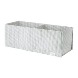 СТУК Ящик с отделениями, белый/серый, 20 х 51 х 18 см