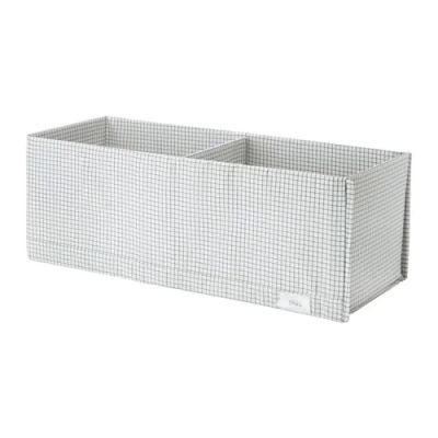 СТУК Ящик с отделениями, белый/серый 20 х 51 х 18