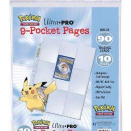 10 листов Pokemon Ultra-Pro (3х3)
