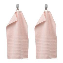 ВОГШЁН Полотенце, бледно-розовый 30 х 50 см