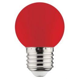 Лампа LED 1W E27 червона/10/250 Rainbov