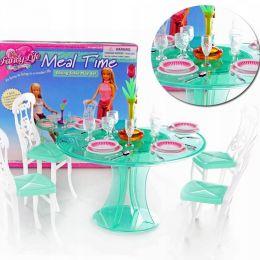 """Мебель """"Gloria"""" 2811 (72шт/6) для столовой, стол, стулья,посуда…в кор.21*19*4см"""