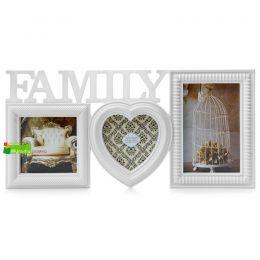 Фоторамка-коллаж 3 фото FAMILY