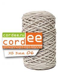Шнур Cordee, ХБ 3 мм, цв.:06 крем