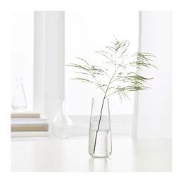БЕРЭКНА Ваза, прозрачное стекло 15 см