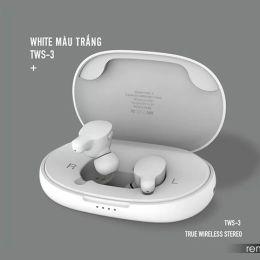 Беспроводные Bluetooth BT наушники Remax TWS-3 белые white