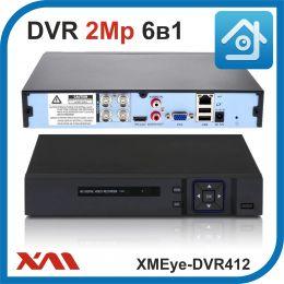 XMEye-DVR412. Видеорегистратор (AHD, XVI, CVI, TVI, CVBS, IP) 4В 1А.