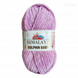 Himalaya dolphin baby 80334 (бледно-лиловый) 100% микрополиэстер, 100гр., 120 м., велюровая пряжа