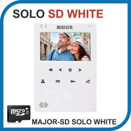 MAJOR SOLO WHITE версия SD. Видеодомофон 4 дюйма. 2 панели - 2 аудио трубки.