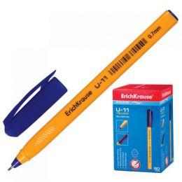 """Ручка ERICH KRAUSE """"U-11"""" син 0,7мм/ иг корп треуг желт"""