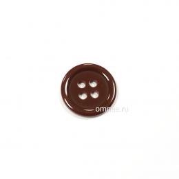 Пуговица классическая 12 мм, цв.: коричневый, арт. 1375707, шт.