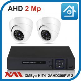 Комплект видеонаблюдения на 2 камеры XMEye-KIT412AHD300PW-2.