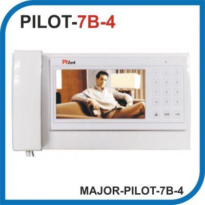MAJOR PILOT-7B-4. Видеодомофон 7 дюймов. 4 панели - 1 аудио трубка.