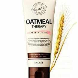 Calmia Oatmeal Therapy Peeling Gel 100g Овсяной очищающий пилинг гель