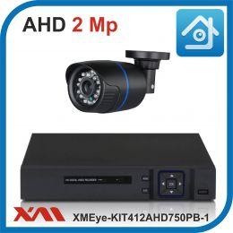 Комплект видеонаблюдения на 1 камеру XMEye-KIT412AHD750PB-1.