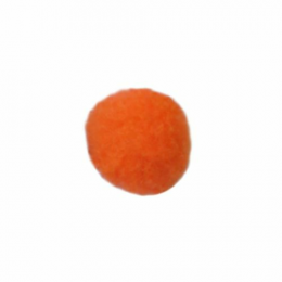 Помпоны, 18 мм, уп. 25шт. цв.:оранжевый