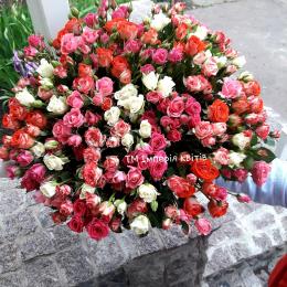 Букетик мікс із 49 шт. троянд