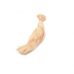 Волосы-трессы для кукол 15 см, ширина 50 см, цв.:блондин