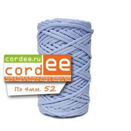 Шнур Cordee, ПЭ4 мм,100м, цв.:52 голубой