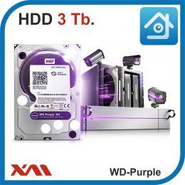 HDD 3 Tb Purple. Western Digital WD30PURX. Жесткий диск 3.5.