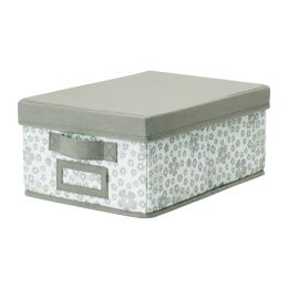 СТОРСТАББЕ Коробка с крышкой, бежевый, 25 x 3 5x 15 см