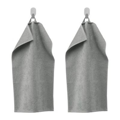 ГЭРЕН Полотенце, 2 шт, классический серый 30 х 50 см