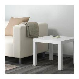 ЛАКК Придиванный столик, белый, 55 х 55 см