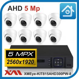 Комплект видеонаблюдения на 8 камер XMEye-KIT815AHD300PW-8.