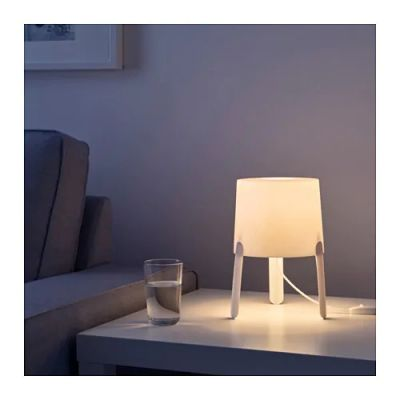 ТВЭРС Лампа настольная, белый