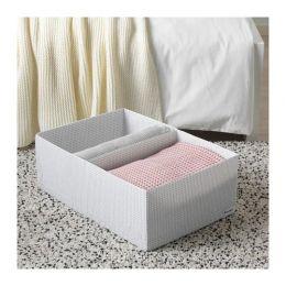 СТУК Ящик с отделениями, белый/серый, 34 х 51 х 18 см