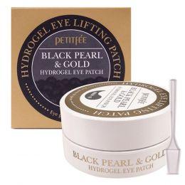 Petitfee Гидрогелевые патчи для глаз Black Pearl & Gold Eye Patch