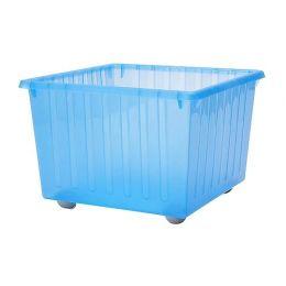 ВЕССЛА Ящик на колесах, синий, 39*39*28