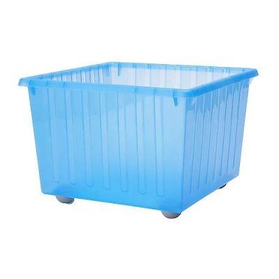 ВЕССЛА Ящик на колесах, синий, 39 х 39 х 28 см