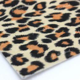 Фетр с принтом леопард 1 мм 20см*30см 1 шт/полиэстер