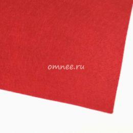 Фетр листовой мягкий 1,2 мм, 20х30 см, цв.: 603 красный