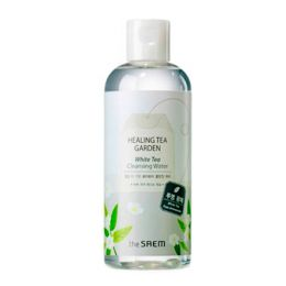 The Saem Healing Tea Garden White Tea Cleansing Water 300ml Вода очищающая и увлажняющая с маслом БЕЛОГО дерева