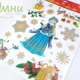 Magic Time ''Снегурочка'' Новогоднее оконное украшение, 30х38 см
