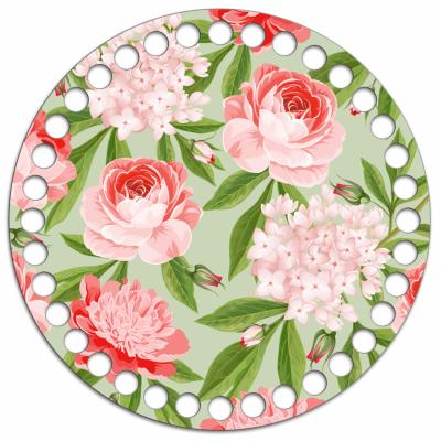 Круг 15 см ''Garden Rose'', 4 мм, дерево, заготовка для обвязывания