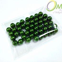 Бусины перламутровые, 8 мм, цв.: зелёный 1, уп. 50 шт.