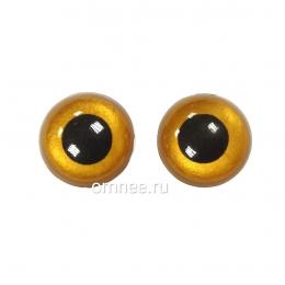 Глаза круглые 16 мм, цв.: св.коричневый, пара