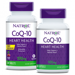 NATROL, CoQ-10 100mg, 30таб cherry