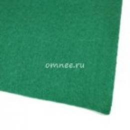 Фетр листовой мягкий 1,2 мм, 20х30 см, цв.: 667 т. Зелёный