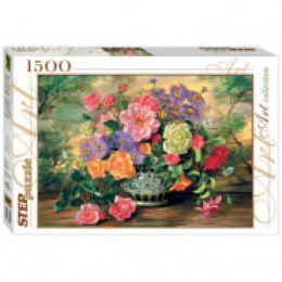 """Пазл 1500 эл. Step Puzzle """"Art Collection. Цветы в вазе"""", картонная коробка"""