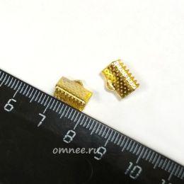 Зажимы для лент, 10 мм, цв.: золото