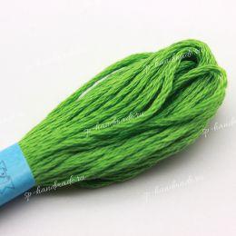 Мулине хлопок Gamma светло-зеленый №0209 8 м