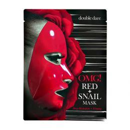 OMG маска для лица с муцином улитки и экстрактами 8 красных растений red snail mask