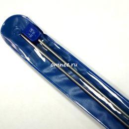 Спицы 35 см № 2 металлич., прямые с наконечником